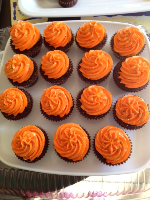 Red Velvet with Orange buttercream