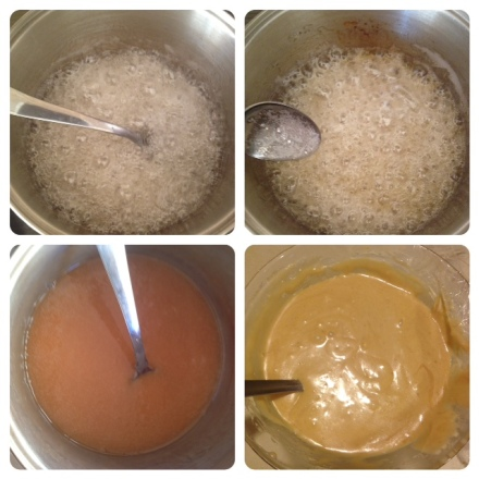 Making the caramel