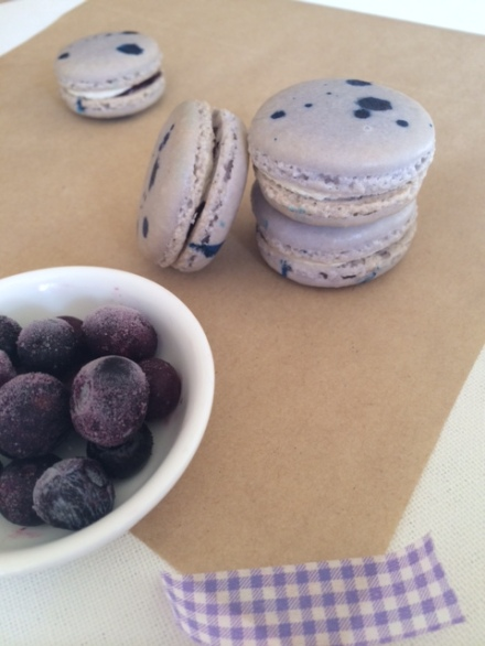 Lavender and Blueberry Macarons